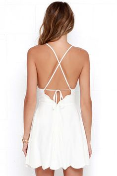Play On Curves Ivory Backless Dress at Lulus.com!