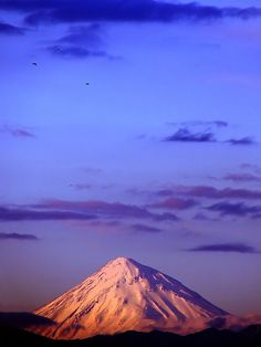 Mount Damāvand, is a potentially active volcano or Stratovolcano and the highest peak in Iran, and has a special place in Persian mythology and folklore.