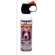Bear Spray: like a fire extinguisher, you buy it hoping you never have to use it