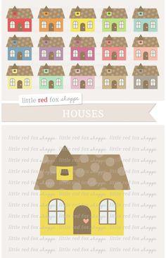 House Clipart. Printables. $5.00 House Clipart, House Vector, Quilt Block Patterns, Pattern Blocks, Flat Design, Web Design, Disney Silhouette Art, Housewarming Party Invitations, Promotional Banners