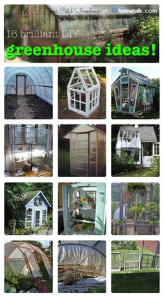 Make your own greenhouse! Get inspired with these 18 great ideas!