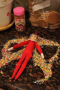 Sprinkle Snow Angels - Elf On The Shelf Ideas - Photos