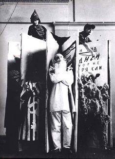 The Constructivist culture, from fashions to theater...Most of the designs were a fusion of art and political commitment, and reflected the revolutionary times.