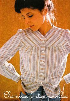 DIY vintage, couture, tricot, loisirs créatifs, années 70: Chemises et peignoirs en Flanelle