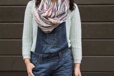 Scarf & Dungaree - http://www.lebazardalison.com/2013/06/the-dungaree.html