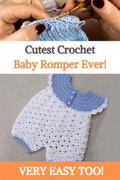 Crochet Baby Dress Free Pattern, Crochet Baby Clothes Boy, Boy Crochet Patterns, Baby Girl Patterns, Crochet Bebe, Baby Girl Crochet, Baby Doll Clothes, Crochet For Boys, Cute Crochet