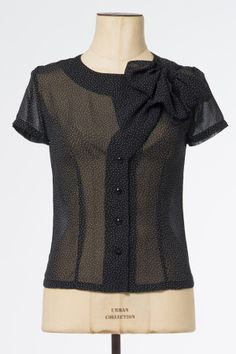 The Gala Black With White Dots Blouse - Tops & Blouses - Clothing