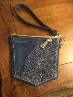 Jeans Pocket Wristlet by SnipsandscraBySandra on Etsy