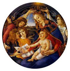 天使の絵画bot(@art_of_angel)さん | Twitter  サンドロ・ボッティチェリ 『マニフィカトの聖母』(1483‐85)