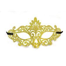 Ögonmask med glitter Guld