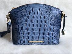 Brahmin Mini Duxbury Crossbody Bag Denim Melbourne Leather  | eBay