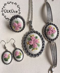 #nakışkolye #nakış #kolye #küpe #bileklik #yüzük #kolyetasarimlari #necklace #flower#flowernecklace #embroiderynecklace #kaneviçe…