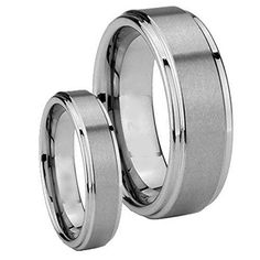 Men & Women 8mm/6mm Brushed Center/polished Stepped Edge Tungsten Carbide Wedding Band Ring Set tungsten jeweler http://www.amazon.com/dp/B014TKIG4I/ref=cm_sw_r_pi_dp_P5qzwb19KWQD3