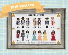Hamilton Cast Cross Stitch Pattern by SweetPrairieSkies on Etsy
