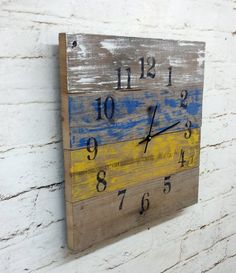 Reclaimed Barn Wood Clock Recycled Like Pallet by ThePinkToolBox, $38.00