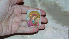 Купить Вышитая миниатюрная икона - коллекционная миниатюра, кукольная миниатюра, миниатюра 1 12