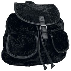 Velvet Backpack - Backpack by Gothicana by EMP Fashion Backpack 99cf1ff241bd9