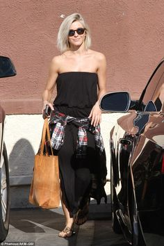 Judgment: Even one of the judges, Julianne Hough, was spotted at the Los Angeles rehearsal...