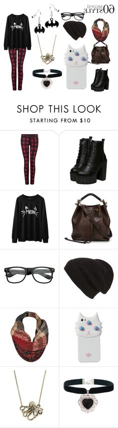 """Untitled #64"" by frustrated-author ❤ liked on Polyvore featuring Dex, Chloé, Phase 3, Black Rivet and Valfré"
