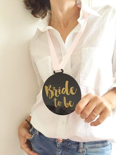 Bachelorette sash alternative, bride to be necklace, statement necklace, hens party necklace, wedding keepsake, bride to be jewellery