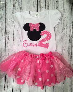 Traje de cumpleaños de Minnie Mouse. Traje de por TennybugBoutique