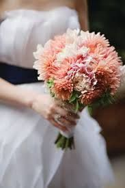 Image result for coral dahlia bouquet wedding