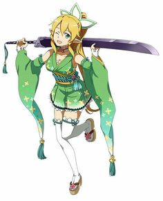 Leafa - By Sword Art Online Kirito and Asuna ღ
