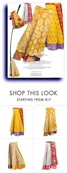 Boho Silk Sari Vintage Wrap Skirt by baydeals on Polyvore featuring vintage   http://stores.ebay.com/mogulgallery/Silk-Sari-Skirts-/_i.html?_fsub=761673819&_sid=3781319&_trksid=p4634.c0.m322