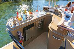 pontoon with wet bar - Google Search