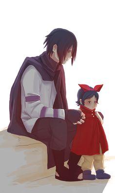 Sasuke and Sarada [by Fey-Rayen.deviantart.com]