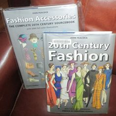"""Vintage Books: Two Hardcover Books """"20th Century Fashion"""" by John Peacock by TheBookE on Etsy"""