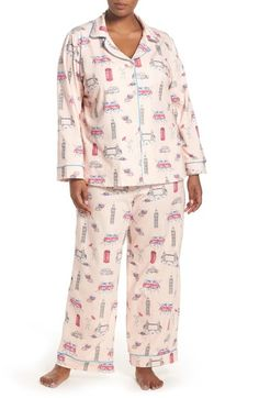 BedHead Print Stretch Cotton Pajamas (Plus Size) available at #Nordstrom