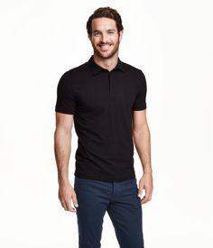 3af22c794 Ashley Weston Justice Joslin, Mens Wardrobe Essentials, Men's Wardrobe,  Black Polo Shirt