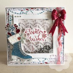 Made using the brand Christmas Collection from Chloe. Available in the US on HSN on August and in the UK in September Chloes Creative Cards, Creative Christmas Cards, Christmas Cards To Make, Xmas Cards, Handmade Christmas, Christmas Diy, Card Making Inspiration, Christmas Inspiration, Stamps By Chloe