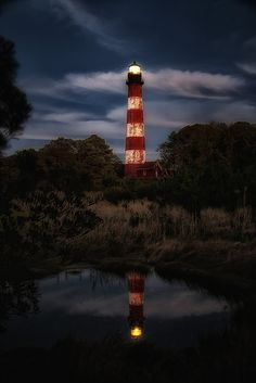 Assateague Lighthouse After Sunset