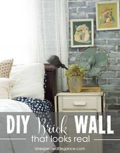 DIY Brick Wall: check out this tutorial for a DIY brick wall that looks like the real thing! Just a few easy steps can transform a faux brick panel and no one will be able to tell they aren't real brick walls. Faux Brick Panels, Brick Paneling, Brick Walls, Diy Wall, Wall Decor, Wall Art, Room Colors, Home Improvement Projects, Decoration