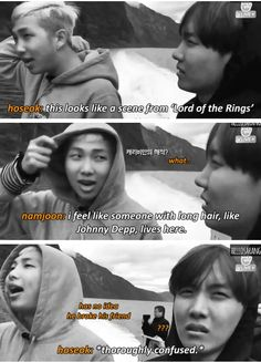 He wasn't talking about 'Pirates of the Carribean', namjoon