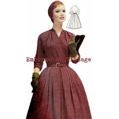 Vintage Sewing Pattern 1956 Dress PDF Plus von EmbonpointVintage