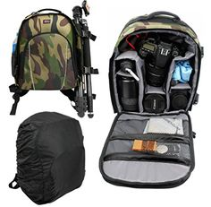 Camouflage Print WaterResistant Action Camera Rucksack  Backpack with Customizable Interior  Raincover Compatible with the Modecom FreeHANDS MCG3DP Virtual Reality Headset  by DURAGADGET -- Read more reviews of the product by visiting the link on the image.Note:It is affiliate link to Amazon.