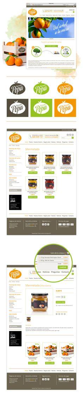 Naranjas Pepa Online Store by Mireia Jane, via Behance