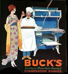 It's always best to ensure your porcelain enamel ranges are sanitary ;) #vintage #1920s #kitchen #stove #ad #home #decor