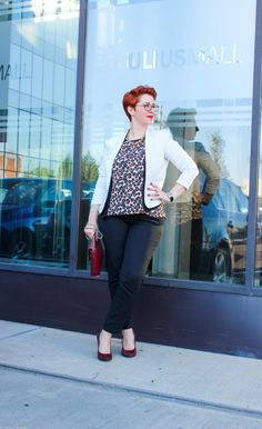 Animal print in your office outfit Office Fashion, Office Outfits, My Outfit, Plus Size Fashion, Animals, Vintage, Style, Swag, Animales