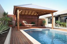 Get the perfect custom pergola shade for your delight. Find the pergola pool designs that suit the space you want to create! Swimming Pool Designs, Swimming Pools, Swimming Pool Landscaping, Bali Huts, Backyard Gazebo, Backyard Ideas, Patio Ideas, Pergola Ideas, Cozy Backyard