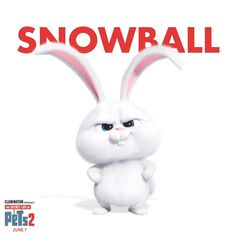 The pets return this summer in the new movie The Secret Life of Pets 2 coming to theaters June Cute Bunny Cartoon, Cute Cartoon Pictures, Funny Phone Wallpaper, Disney Phone Wallpaper, Snowball Rabbit, Rabbit Wallpaper, Anime Muslim, Funny Posters, Secret Life Of Pets