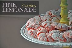 Strawberry Pink Lemonade Cookies...perfect for summertime or a girly pink party or baby shower