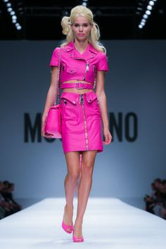 A look from the Moschino Spring 2015 RTW collection.