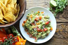 The ultimate dip for entertaining a crowd; quick, delicious and packed full of goodness, this guacamole will leave your friends unable to stop dunking. Light Snacks, Recipe Using, Guacamole, Crowd, Snack Recipes, Vegetarian, Cooking, Ethnic Recipes, Kitchen