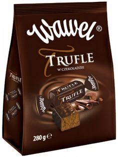 WAWEL 280g Trufle w Czekoladzie  • klasyczny smak trufli • czekoladowe nadzienie • z nutką rumu • oblane czekoladą deserową