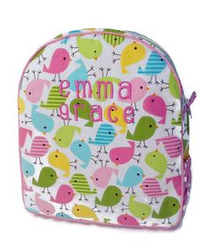 Personalized Toddler Backpack Girls Preschool Quilted Pink