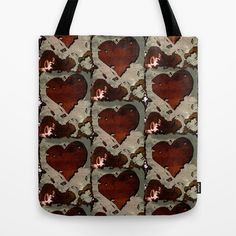 Brokenheart Tote #Bag by 22:22 #Shop - $22.00 #Love #t-shirt #top #woman #clothes #shirt #style #fashion #graphic #design #drawing #couple #valentine #gift #heart